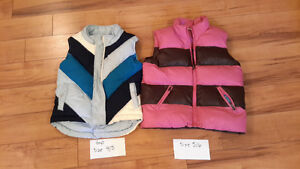 girls clothing vests size 4/5 and 5/6