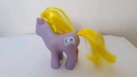 Vintage G1 My Little Pony Baby Playschool Alphabet Toy E e blocks 1980