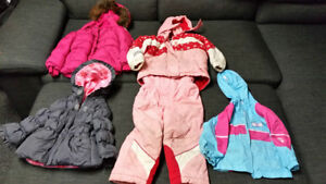 Girls size 2T jackets and snow suit