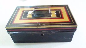Bank, Mid-Century Chad Valley Cash Box with key