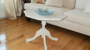 GREY (PEWTER) PAINTED OCTAGONAL COFFEE TABLE OR END TABLE