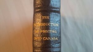 The Introduction of Printing Into Canada - 1930