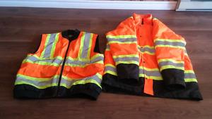 Reflective work gear