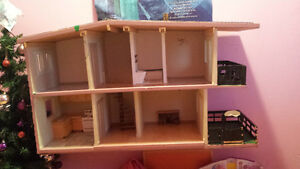 Heavy duty homemade wooden doll house