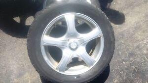VW / Audi Aluminum Alloy Rims & Winter Tires, Set of 4