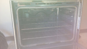 Stainless Propane range with electric oven