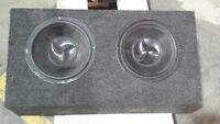 Coustic Subs with enclosure *READY TO GO*