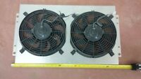dual electric fan with shroud