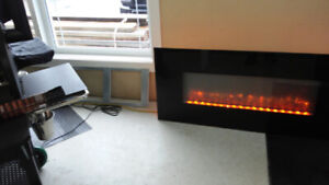 "58"" Wall Mount Electric Fireplace for sale"