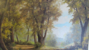 Large Original Oil Painting by G. Riechel