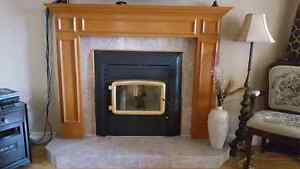 Fireplace with Mantel and marble base