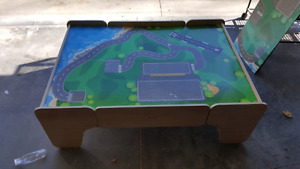 Kids play table with two drawers