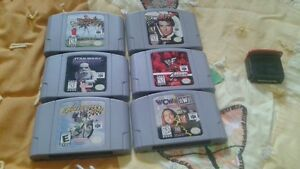 i am selling 6 n64 games and expansion pack.