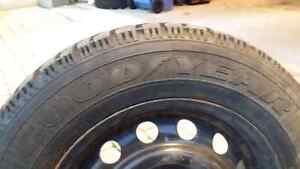 Winter Tires 205/65/15 GOODYEAR NORDIC on GM rims West Island Greater Montréal image 2