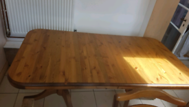 Large extendable ducal pine dining table