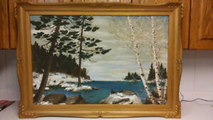 Antique Canadian landscape oil painting