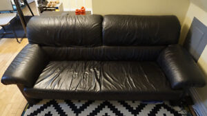 Extremely comfortable Black Leather Couch
