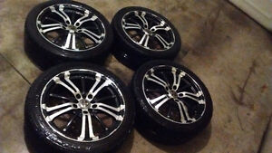 4 rtx rims n low profile tires
