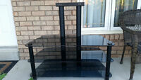 Glass TV Stand With Built-In Mount