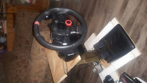 Logitech driving force race wheel