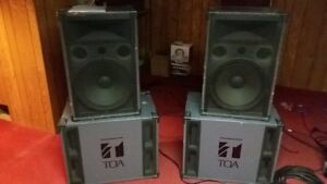 TOA PA Speakers and Subwoofers
