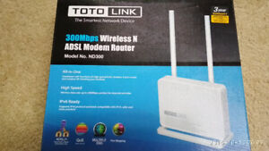 Modem Router TOTOLINK ND300 Wireless N ADSL 2/2+