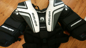 Bauer reactor goalie chest protector youth l/xl