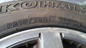 4 pneus + mags  d'été yokohama