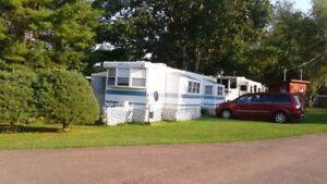 40 foot park  model with  2 slide out  (1996)  furnished and add