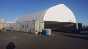 Portable Fabric Structure Buildings Container mounted 30' x 40'