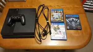 Sony PlayStation 4 (500GB) with 3 games
