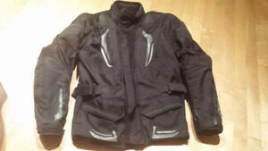 Angora motorcycle jacket.Protection coudes épaules et dos.Large