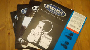 "Lot of 4 brand new 10"" Evans Heads!"