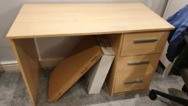 Oak Office Desk (L 110cm D56cm H74cm)