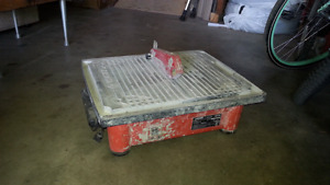 Wet or dry tile saw