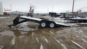 TAX INCLUDED! H&H 18' hydraulic tilt car hauler utility Trailer