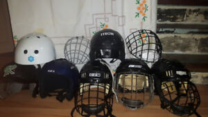 casques hockey/ski/baseball