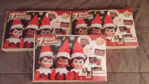 Elf on the Shelf wooden puzzles
