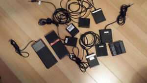 Lot de pedals - sustain -controler - Sequential circuit- Moog -
