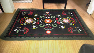 SWEDISH DESIGN AREA RUG - 78' x 52' inches