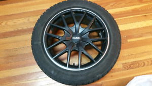 "Touren 17"" 5x108/114.3 Wheels with Almost New Blizzaks 245/45R17"