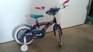 "10"" Girls Princess Bike with Training Wheels"