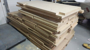 "1.5"" MDF Boards most 24"" x 94"" approx 550 s.f."