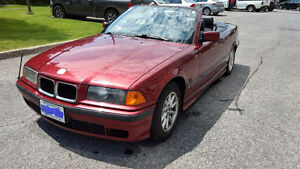 1996 BMW 3-Series Black leather Convertible
