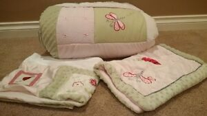 Kidsline Ladybug twin quilt, pillow sham and window valence