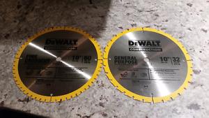 """Dewalt 10"""" Mitre Saw/Table Saw Blades."""
