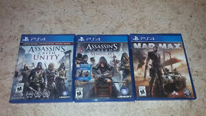Mad Max,Assassins Creed Syndicate et Assassins Creed Unity