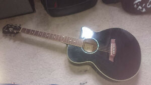 IBANEZ Black Electric/Acoustic Guitar with Accessories