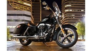 Harley Dyna Switchback Stock Pipes & Air Breather - new 2016
