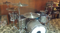 6 Piece Ludwig Keystone Drum Set with High End Zildjian Cymbals